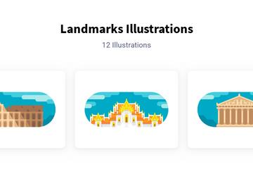 Landmarks Illustration Pack