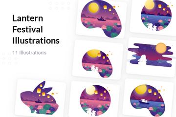 Lantern Festival Illustration Pack