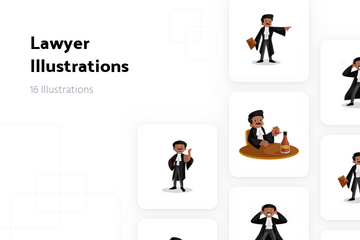 Lawyer Illustration Pack