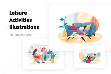 Leisure Activities Illustration Pack