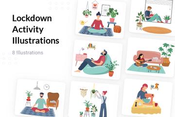 Lockdown Activity Illustration Pack