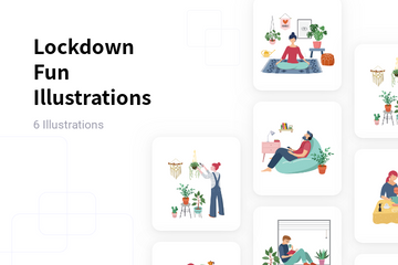 Lockdown Fun Illustration Pack