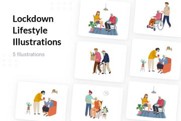 Lockdown Lifestyle Illustration Pack