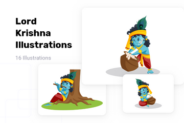 Lord Krishna Illustration Pack