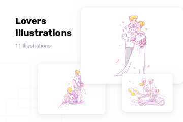 Lovers Illustration Pack