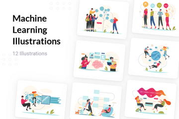 Machine Learning Illustration Pack
