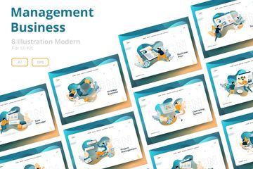 Management Business Illustration Pack