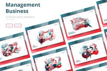 Management Business Illustration Illustration Pack