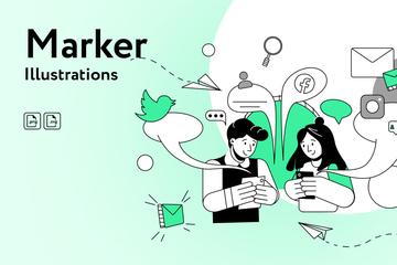 Marker Illustration Pack