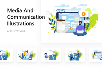 Media And Communication Illustration Pack