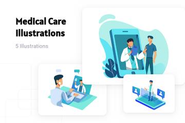 Medical Care Illustration Pack