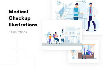 Medical Checkup Illustration Pack