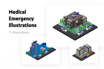 Medical Emergency Illustration Pack