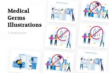 Medical Germs Illustration Pack