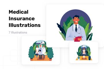 Medical Insurance Illustration Pack
