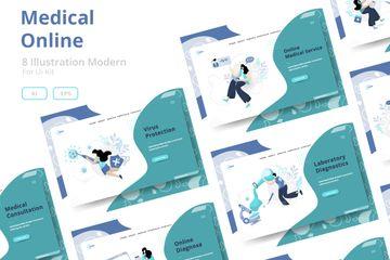 Medical Online Illustration Pack