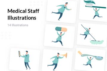 Medical Staff Illustration Pack