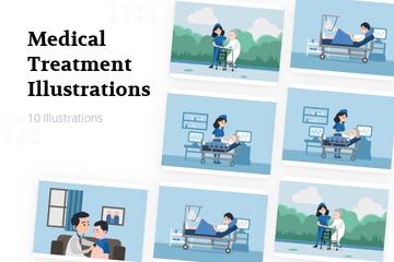 Medical Treatment Illustration Pack