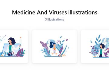 Medicine And Viruses Illustration Pack