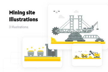 Mining Site Illustration Pack
