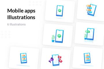 Mobile Apps Illustration Pack