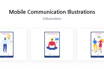 Mobile Communication Illustration Pack