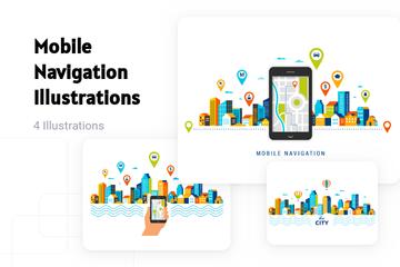 Mobile Navigation Illustration Pack