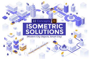 Modern City Illustration Pack