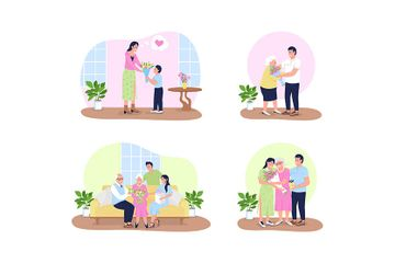 Mothers Day Illustration Pack
