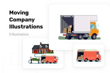 Moving Company Illustration Pack