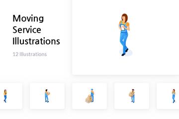 Moving Service Illustration Pack