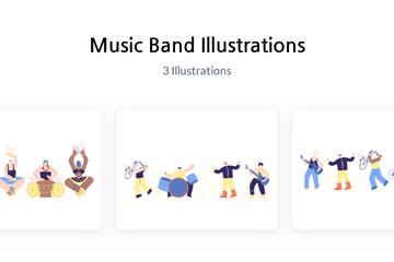 Music Band Illustration Pack