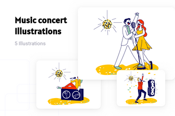 Music Concert Illustration Pack