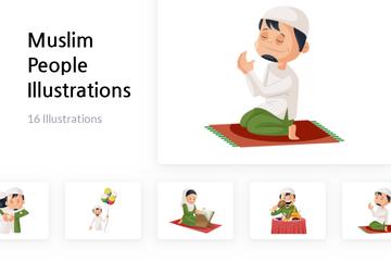 Muslim People Illustration Pack