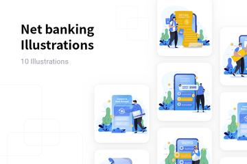 Net Banking Illustration Pack