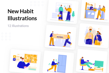 New Habit Illustration Pack