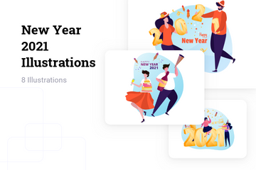 New Year 2021 Illustration Pack