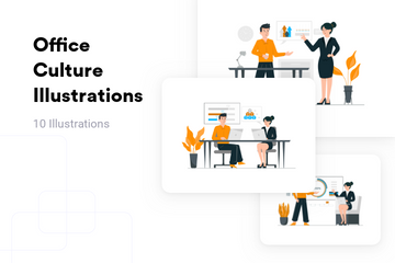 Office Culture Illustration Pack