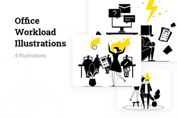 Office Workload Illustration Pack