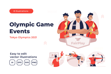 Olympic Game Events Illustration Pack