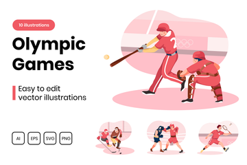 Olympic Games Illustration Pack