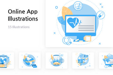 Online App Illustration Pack