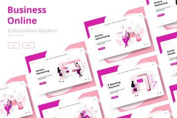 Online Business Illustration Pack