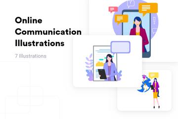 Online Communication Illustration Pack