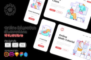 Online Education Illustration Pack