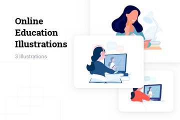 Online Education Illustration Pack