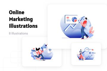 Online Marketing Illustration Pack