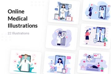 Online Medical Illustration Pack