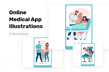 Online Medical App Illustration Pack