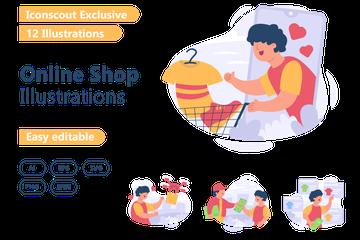 Online Shop Illustration Pack
